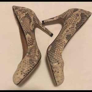 Corso Como Snakeskin Heels